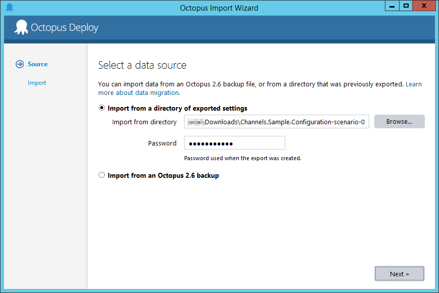 Octopus Manager Import