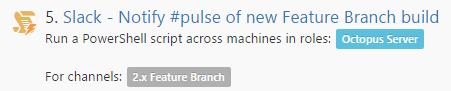 Feature Branch Slack Notification Step
