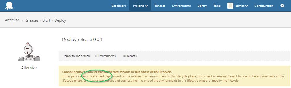 Un-tenanted deployment
