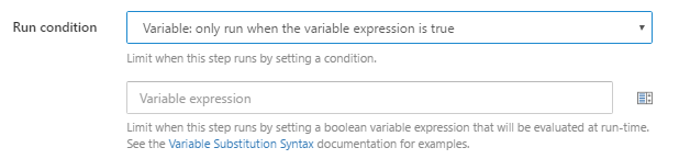 New field for entering the variable expression to evaluate