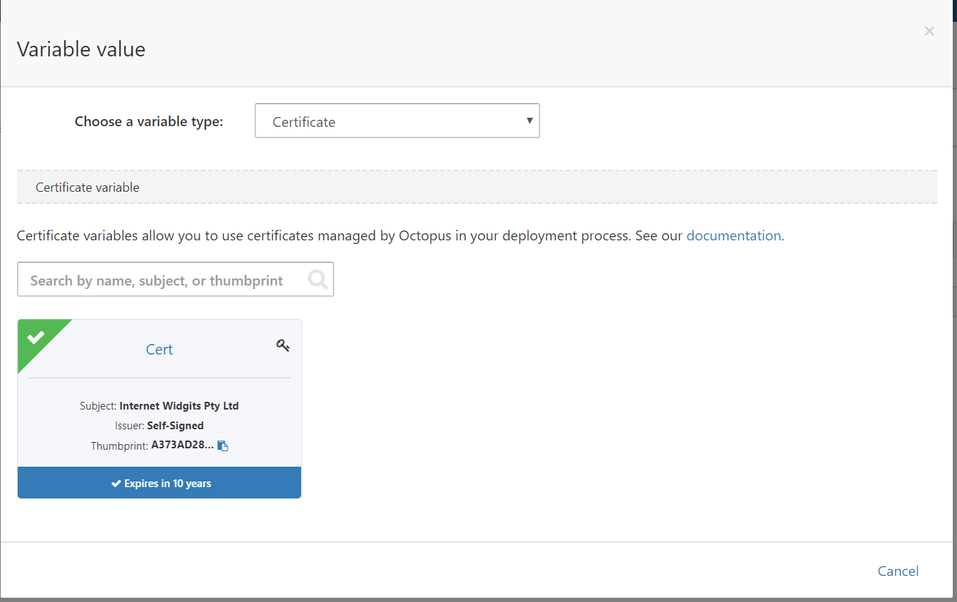 Deploying Certificates To Wildfly Octopus Deploy