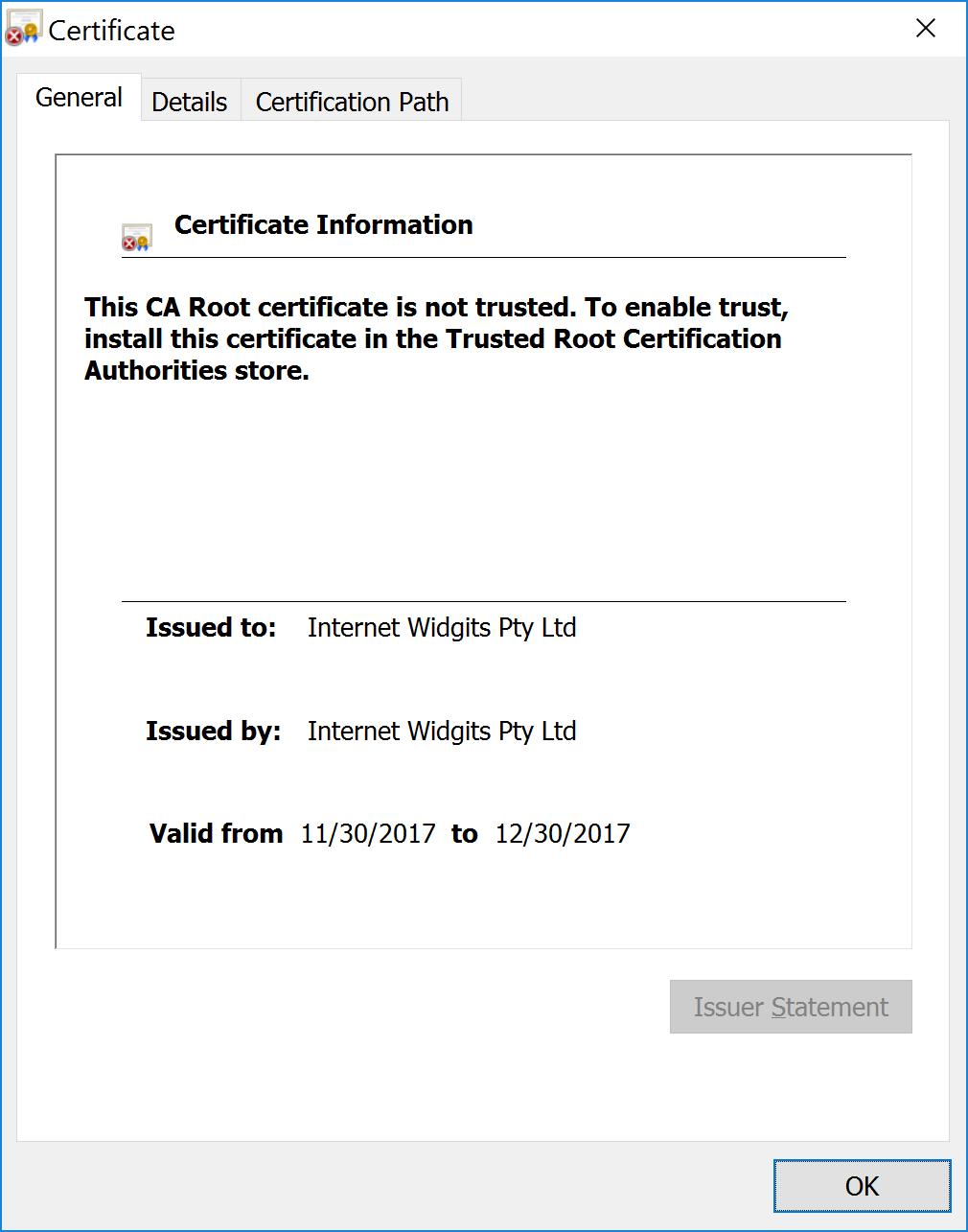 Chrome Certificate