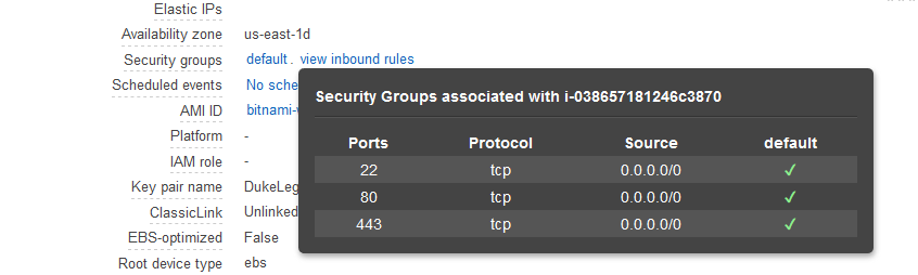 Default security group