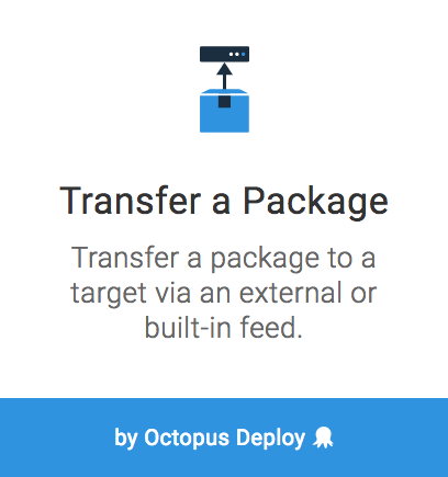 Transfer a package step