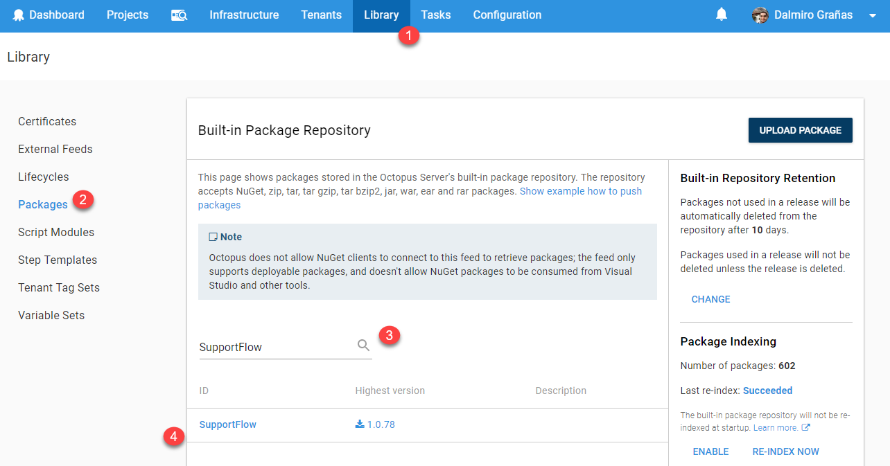 Package in built-in repository