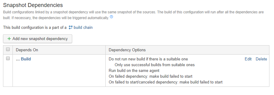 TeamCity chained build dependencies