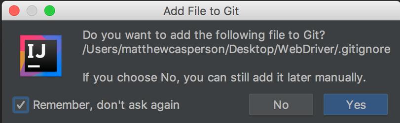 how to add gitignore file to repo