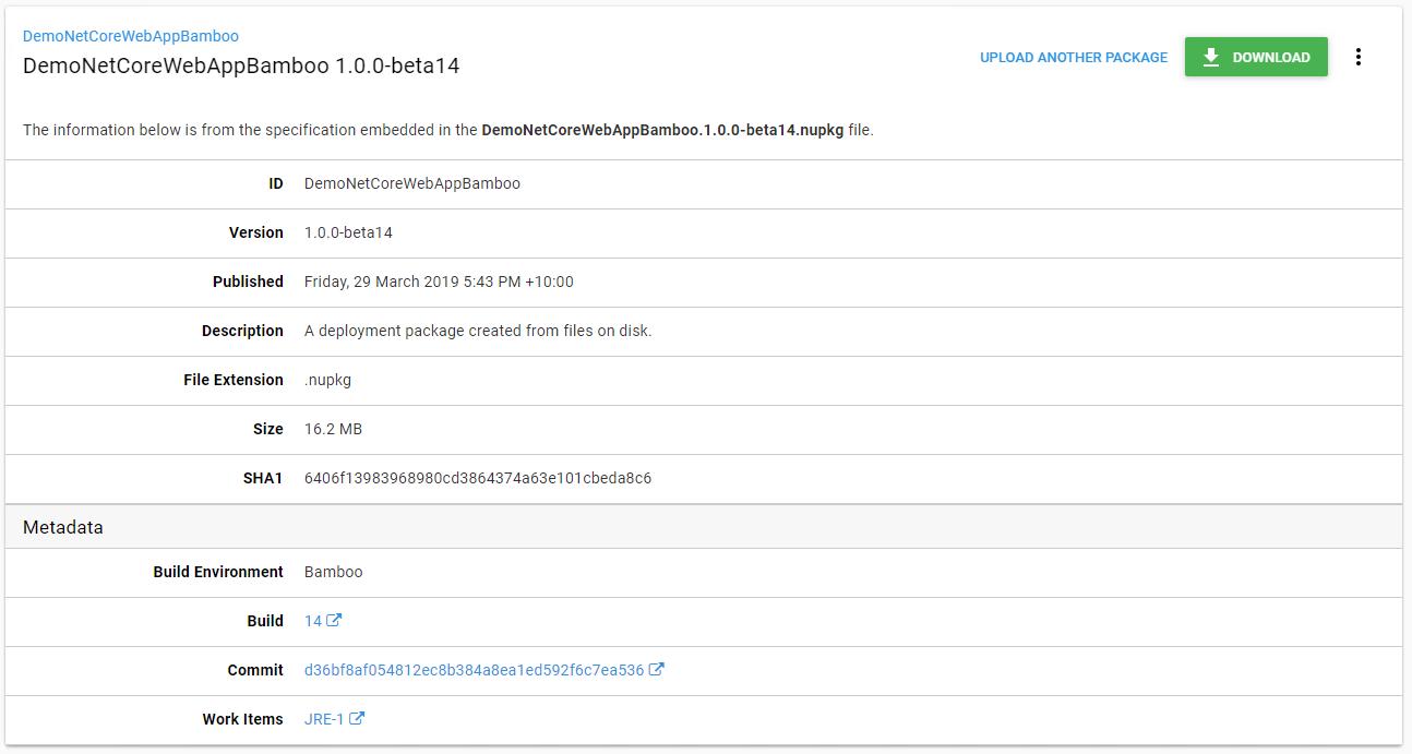 Package details metadata