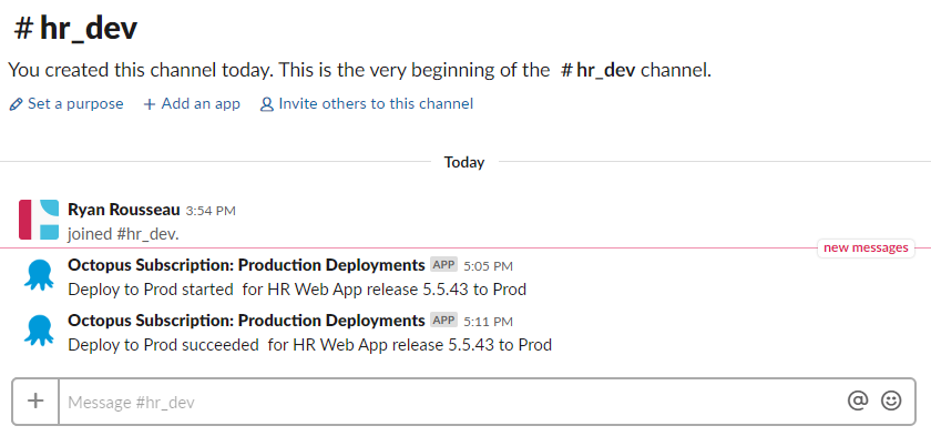 Adding notifications for every production deployment