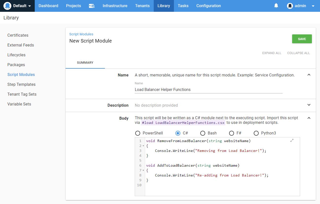 New C# Script Module