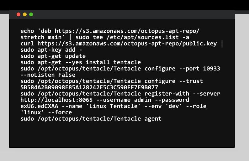 Linux Tentacle configuration
