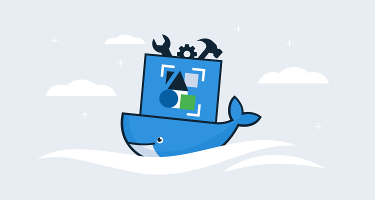 Docker Whale with a Cloud Native Application Bundle on its back