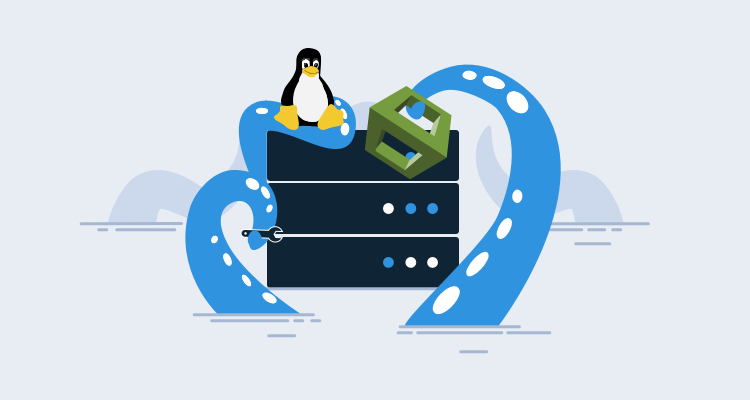 Tentacles rising from the ocean to install software on a Linux server with AWS Cloudformation