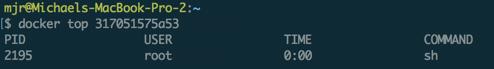 docker top on linux