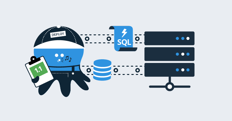 Octopus worker deploying an ad-hoc SQL script illustration