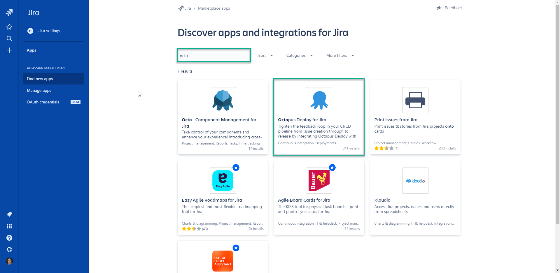 The octopus Deploy plugin for Jira
