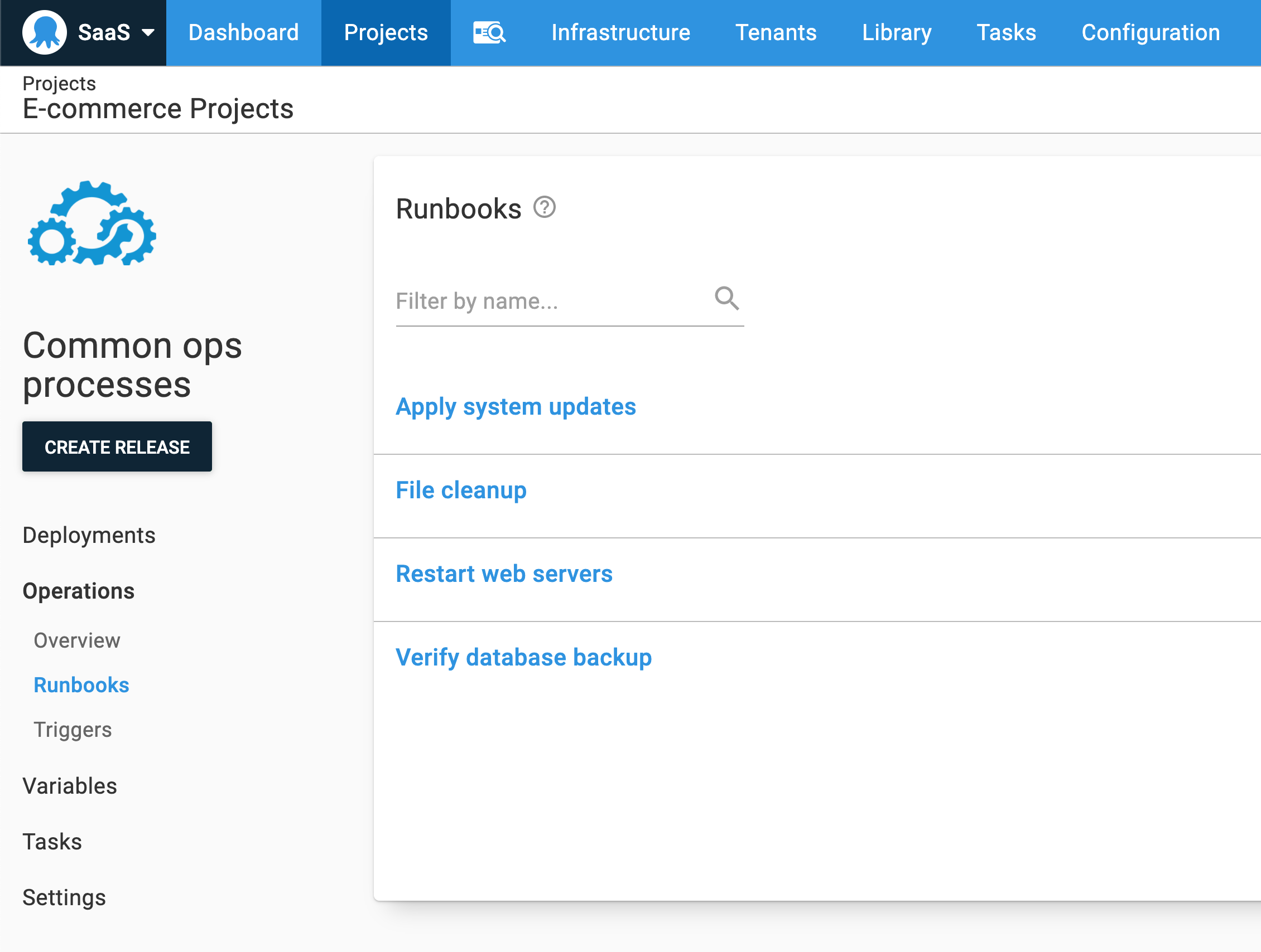 Runbook only projects