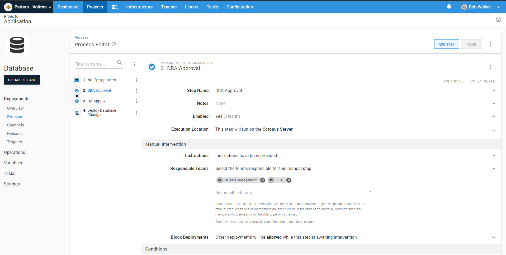 add release management team to each manual intervention