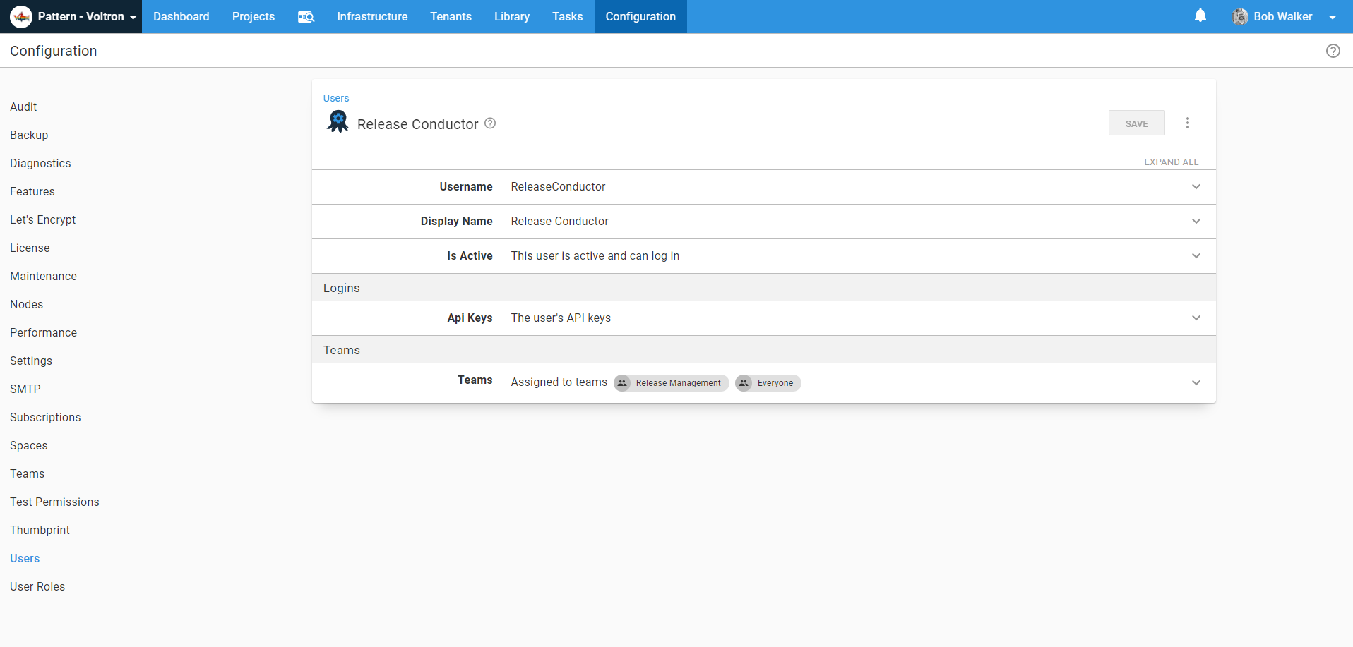 release conductor service account