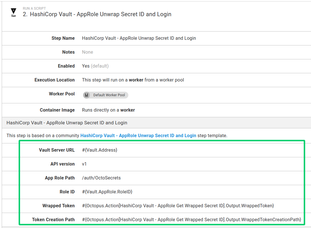 Vault Unwrap SecretID and Login step used in a process