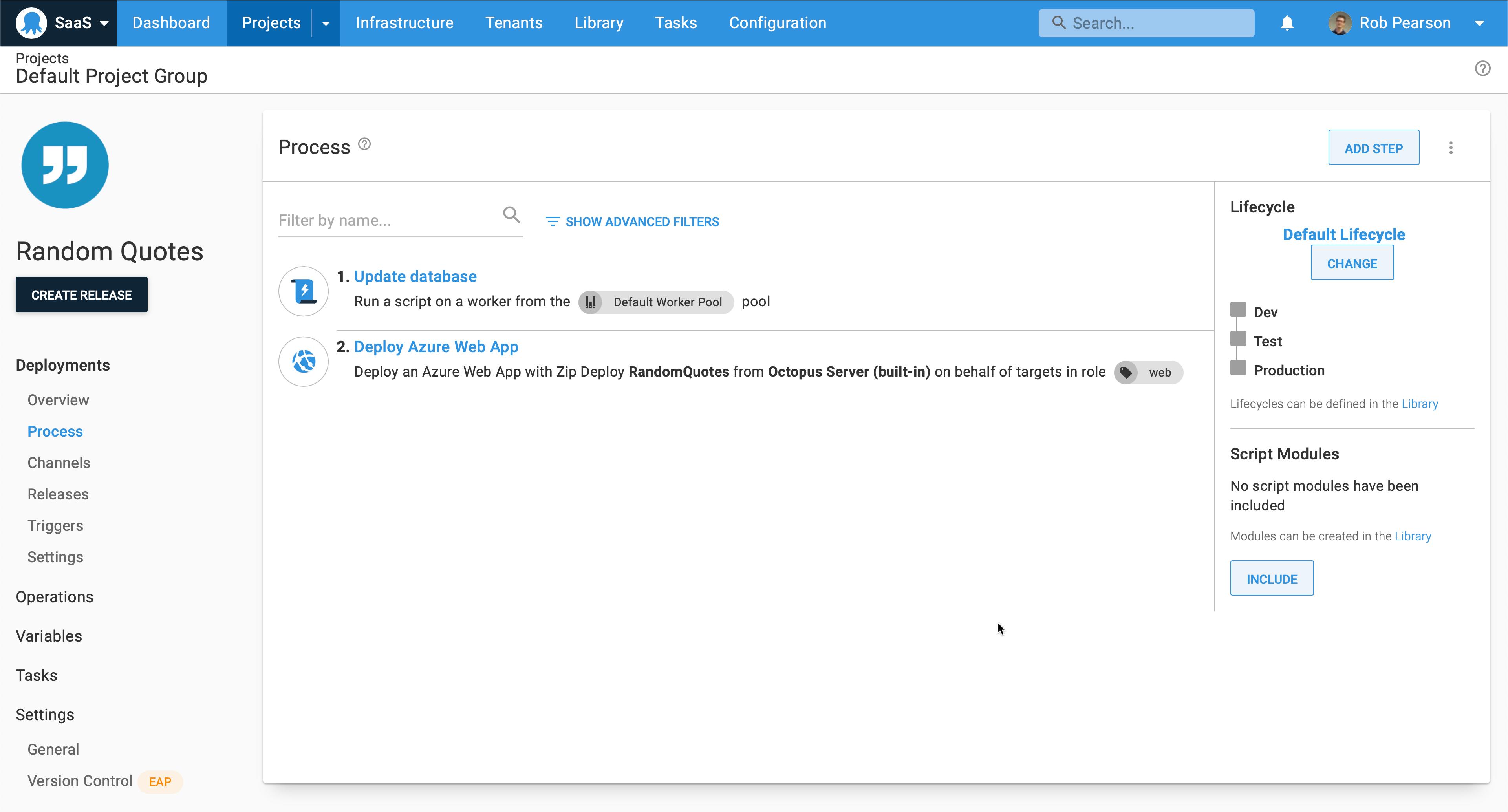 Azure App Service deployment process