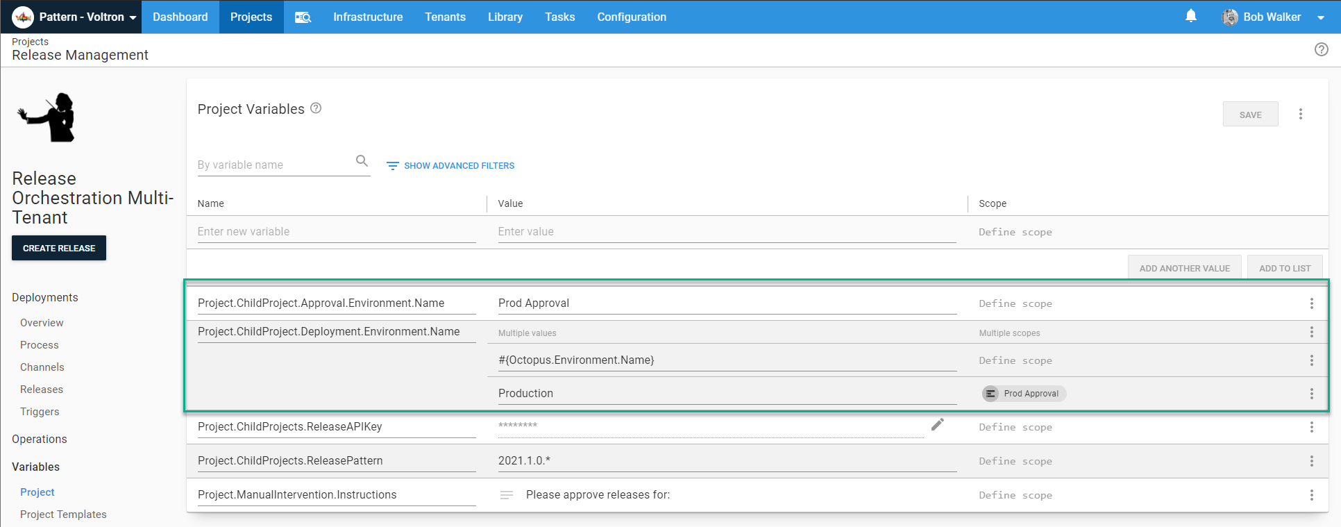 Release management approval environment variables