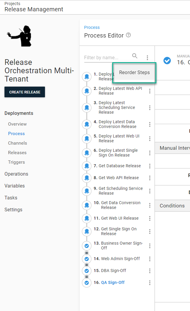 Reorder release orchestration steps