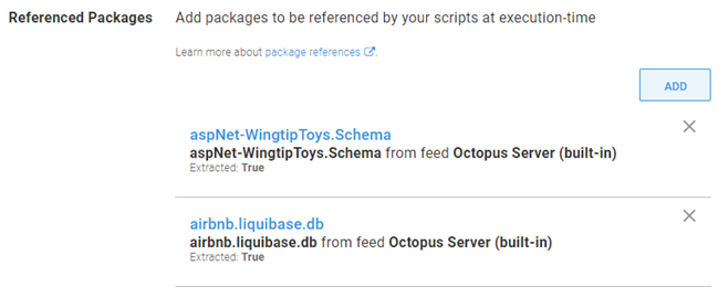Octopus dashboard showing Referenced Packages in opposite order