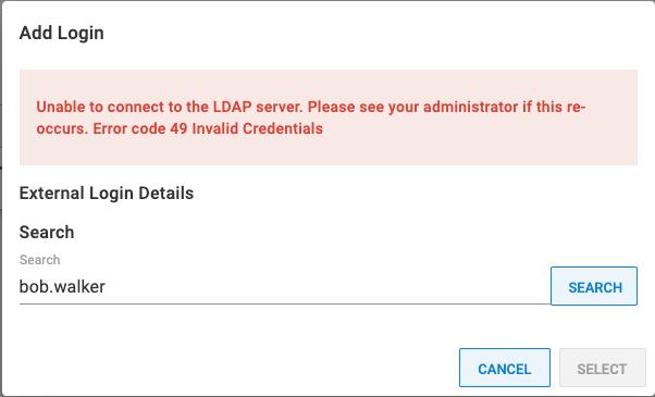 failed user lookup