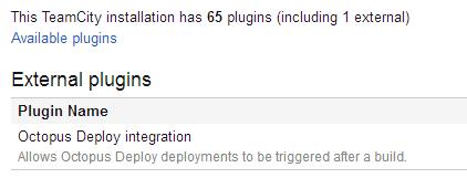 TeamCity plugin
