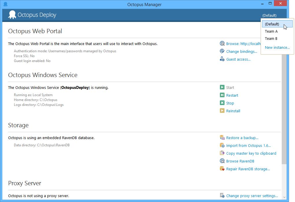 Managing multiple instances