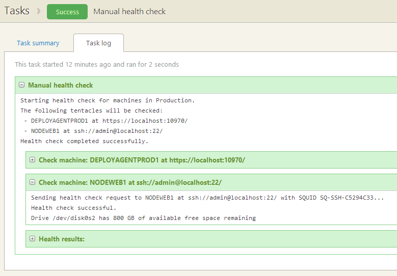 Health check an agentless machine