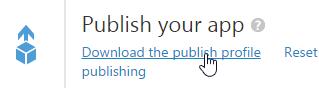 Download Publish Profile