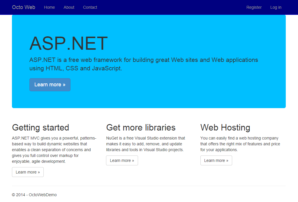 Modified web site running
