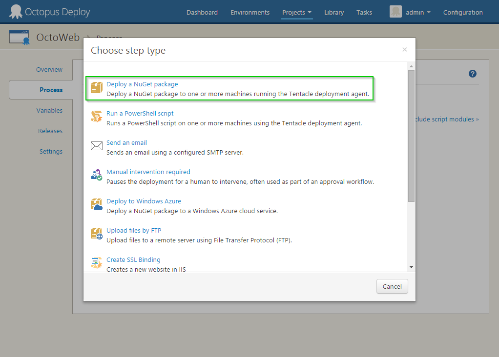 NuGet Package step