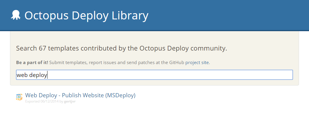 Web Deploy Step Template