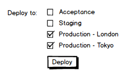 Selecting multiple environments to deploy to