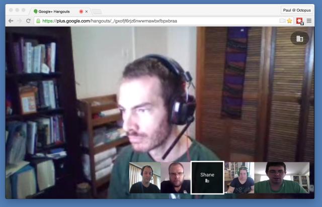 Standups via Hangouts