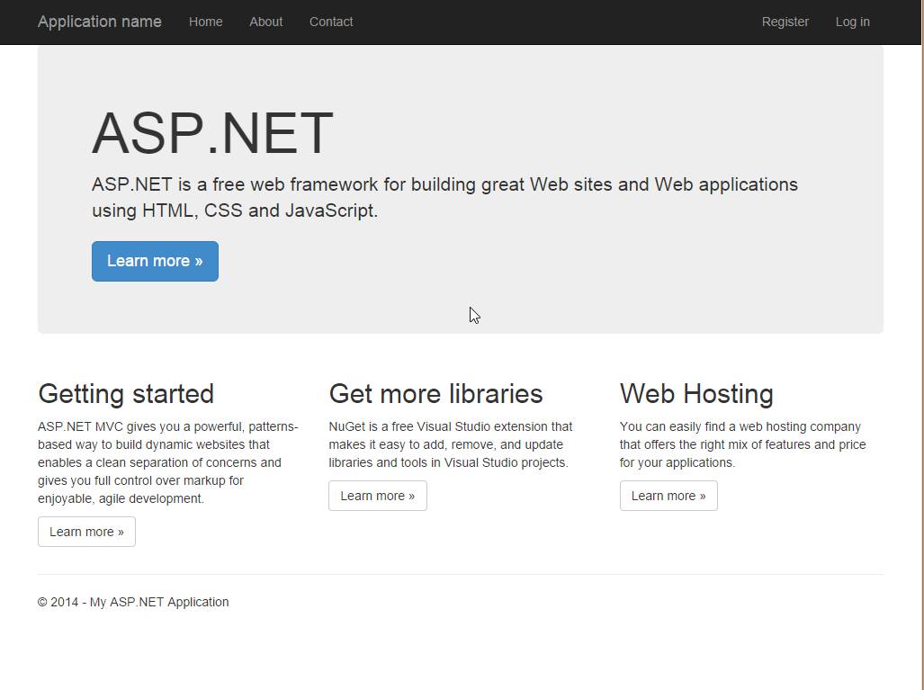 Web site up and running