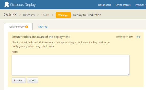 Pausing a deployment