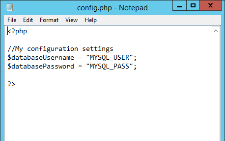 Config.php Contents