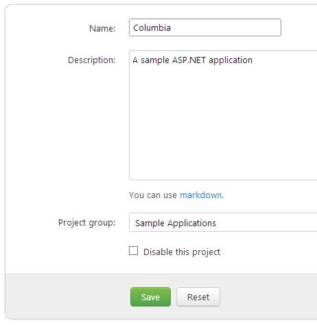 Set a project group