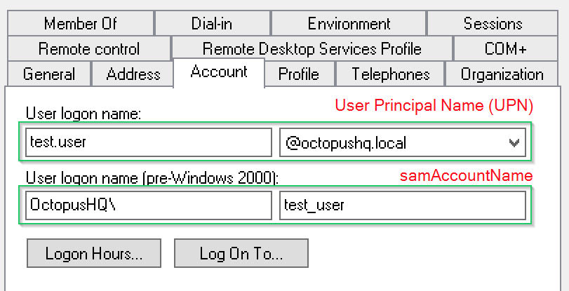 Troubleshooting Active Directory Integration | Octopus Deploy