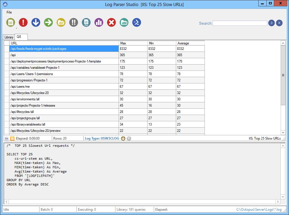 Enable Web Request Logging | Octopus Deploy