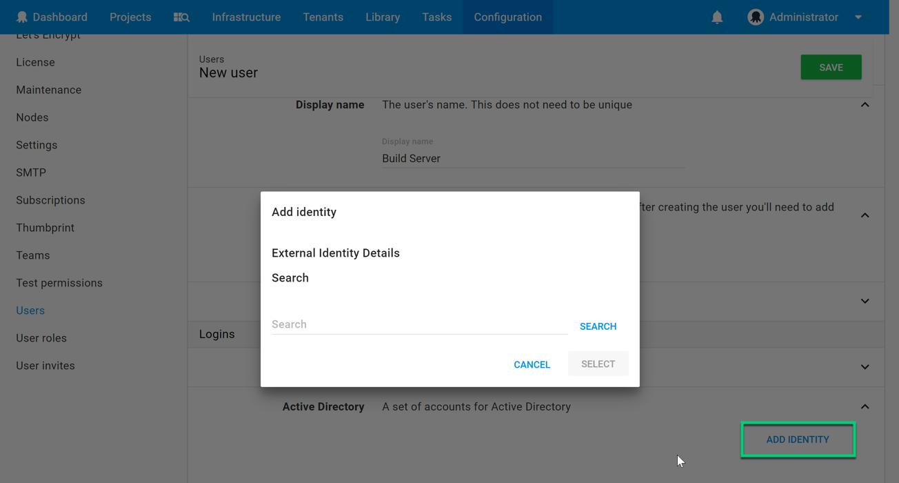 Add Active Directory login