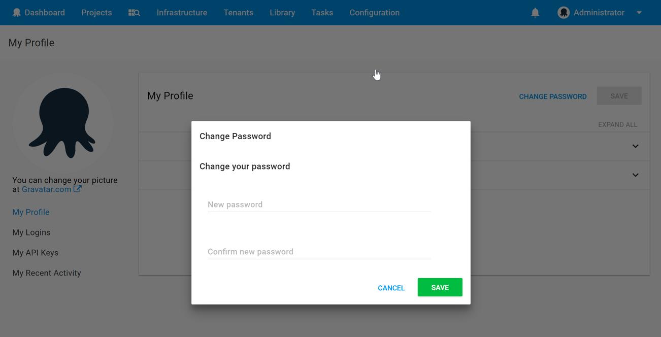 Resetting Passwords - Octopus Deploy