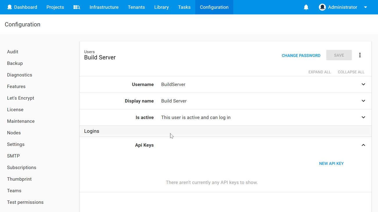 Service account API Key