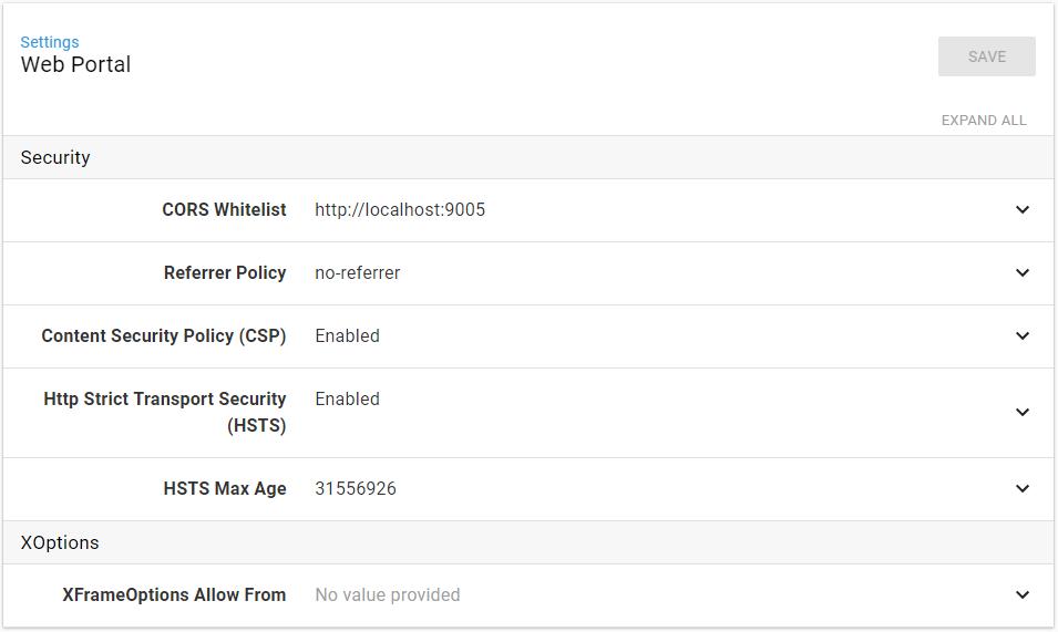 Web Portal Configuration