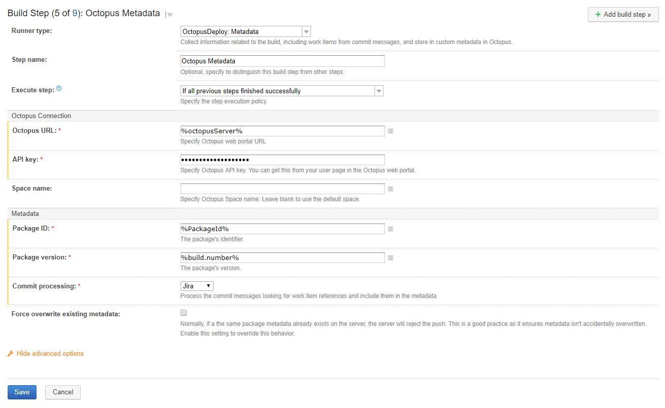 Package Metadata Step