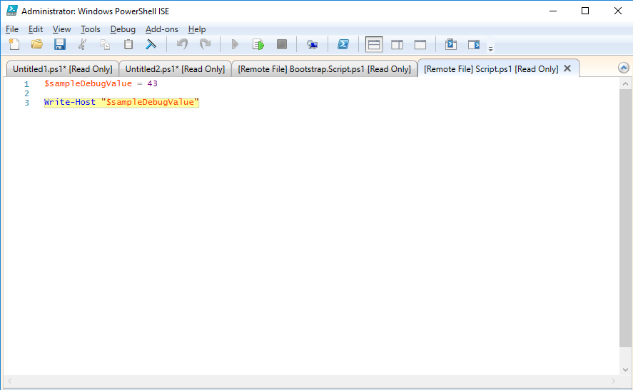 Debugging remote PowerShell scripts